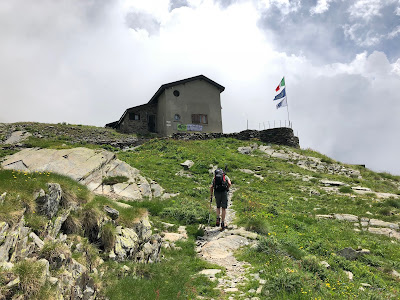 Approaching Rifugio Brunone - the most remote of rifugi on this tour.