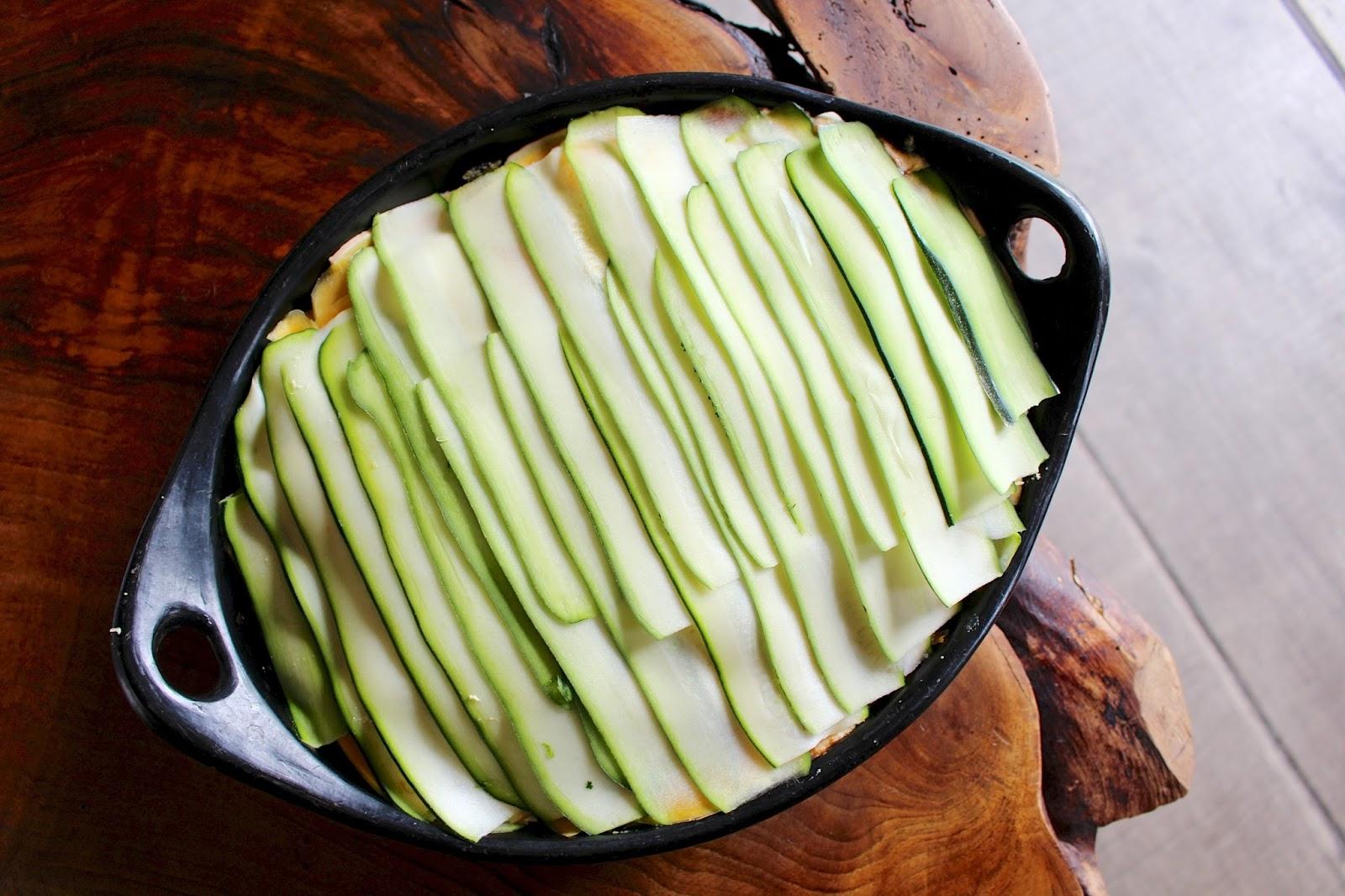Vegan zucchini & squash lasagna
