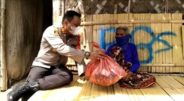 Polsek Teluknaga Gelar Baksos Untuk Membantu Masyarakat Yang Terdampak Pandemi Covid-19