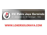Loker Quality Control, Cutting, PPIC di CV Pakis Jaya Garmindo Solo