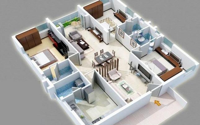 denah rumah minimalis 3 kamar tidur
