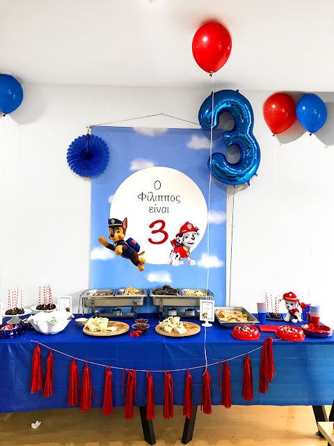 Paw Patrol Party, Party Buffet