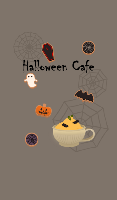 Halloween cafe + ice green [os]
