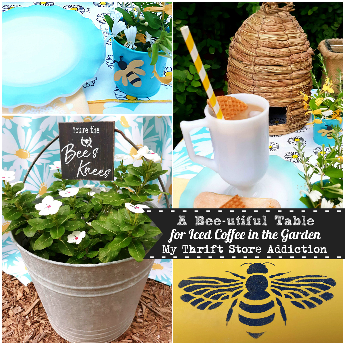 bee-themed tablescape
