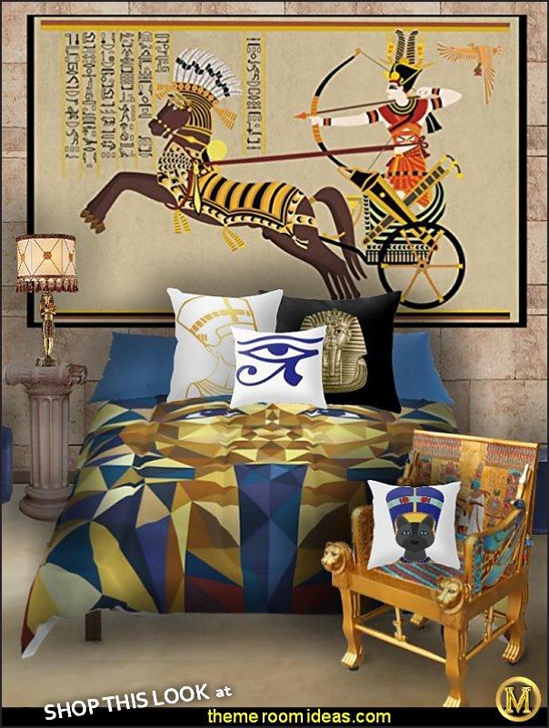 egyptian bedoom egyptian bedding egyptian furniture egyptian pillows egyptian wallpaper mural