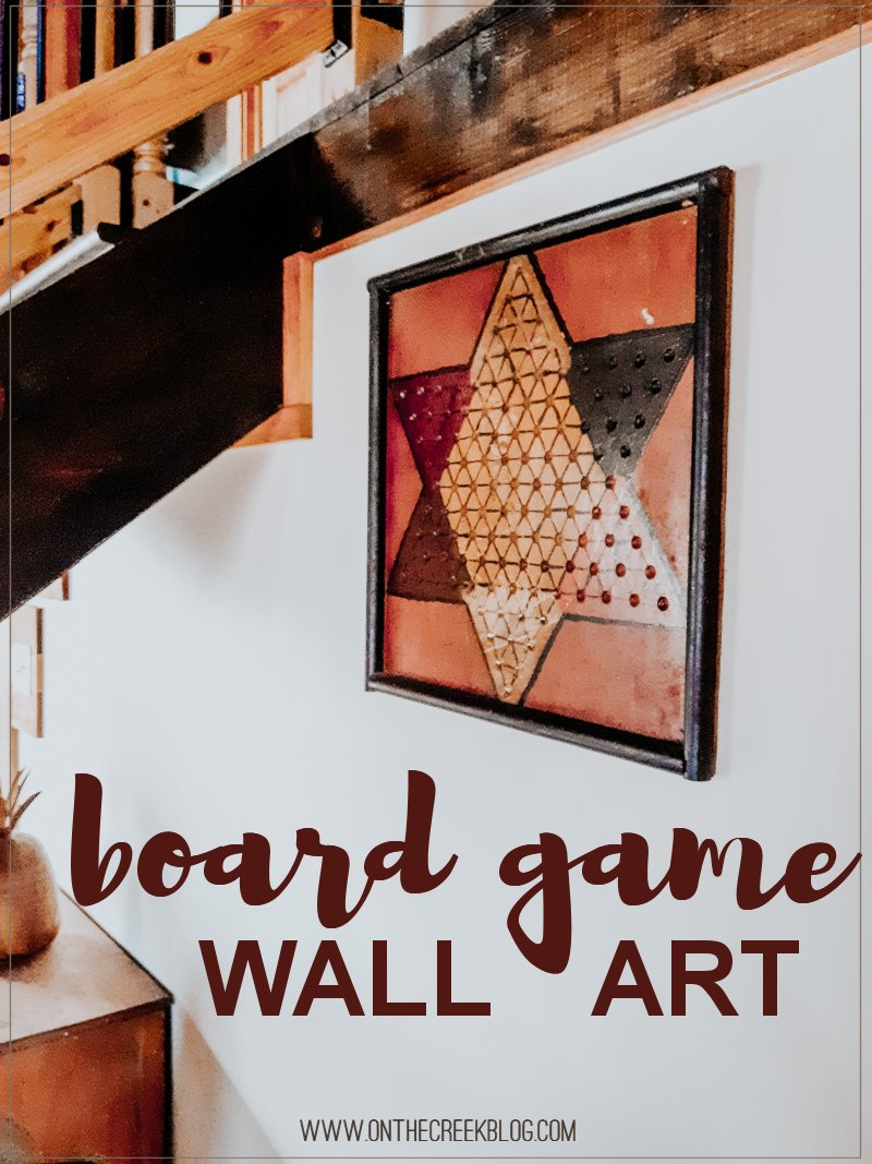 Old board game turned into cute & rustic wall art!