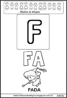 Cartaz das famílias silábicas do F