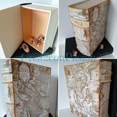Caja-libro-cartonaje-y-decoupage-collage-partes-libro-Crea2-con-pasión