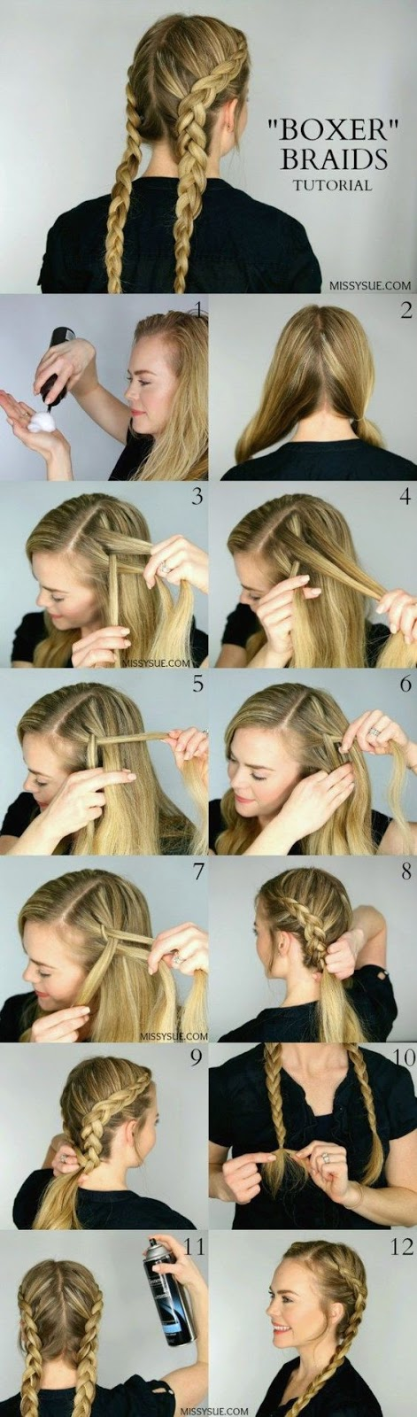 Boxer Braids Tutorial