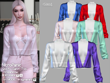 ShoYu Satin Tops for The Sims 4