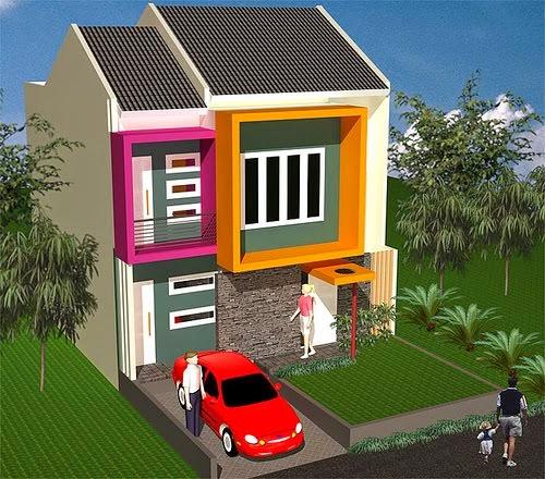 desain rumah minimalis modern type 36 2 lantai