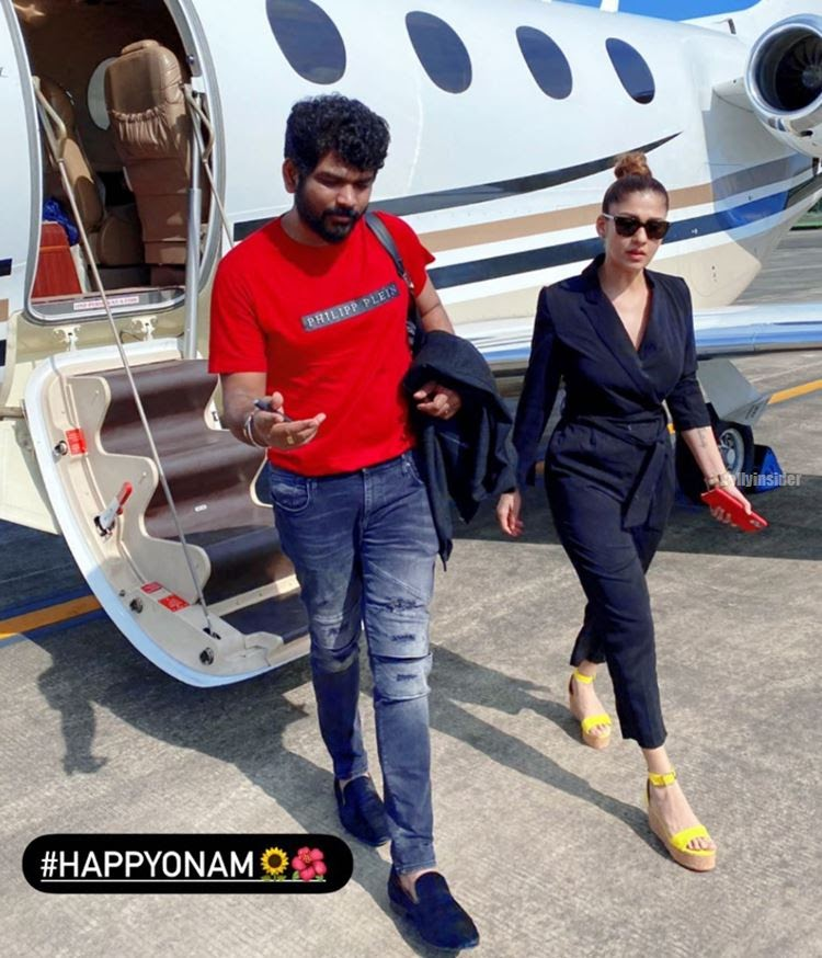 Nayanthara and Vignesh Shivan spotted in airport