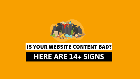 signs that content quality is not good