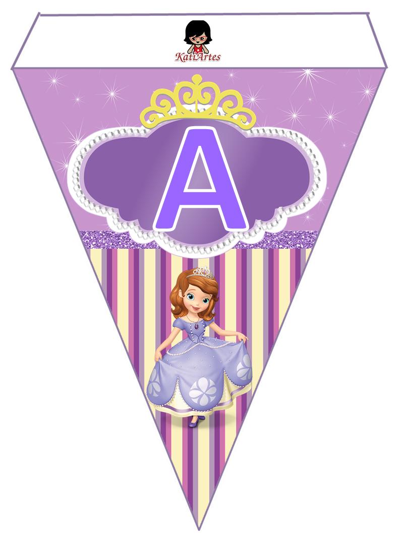 Banderines Para Cumpleaños De La Princesa Sofía Para