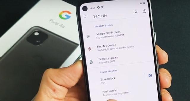 Pixel 4a fingerprint sensor