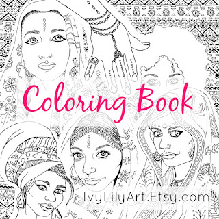 Indian and African Culture Printable Coloring Book