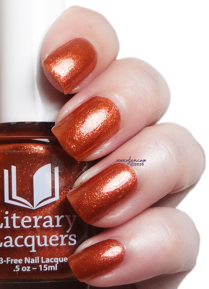 xoxoJen's swatch of Literary Lacquers Afterglow