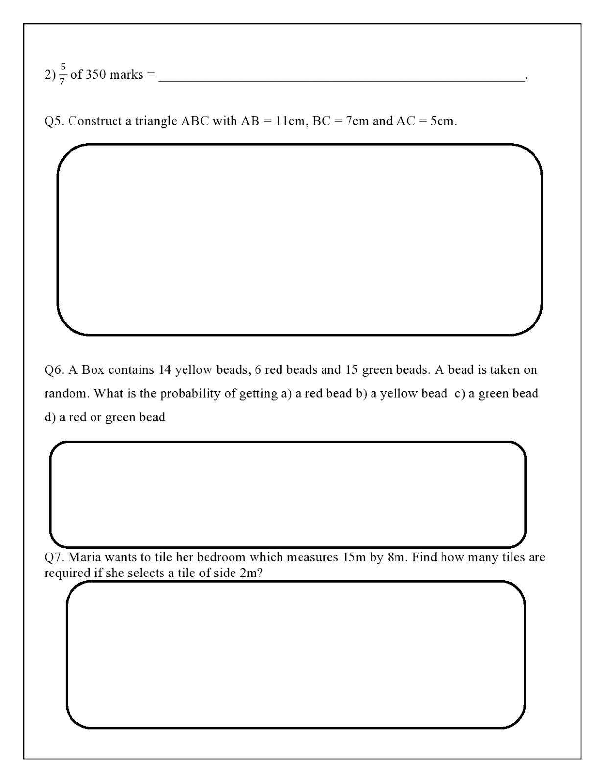 WORLD SCHOOL OMAN: Revision Worksheets for Grade 7 as on 09-05-2019 [ 1600 x 1236 Pixel ]