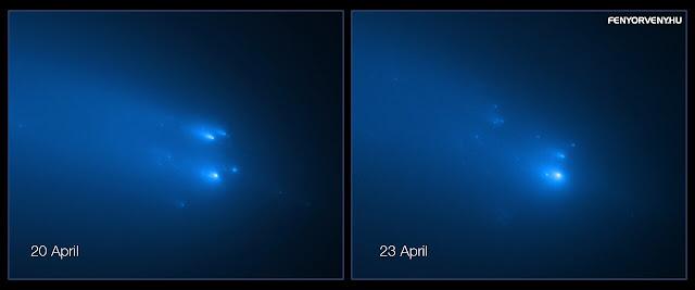 25 darabra esett szét az április végi Atlas üstökös
