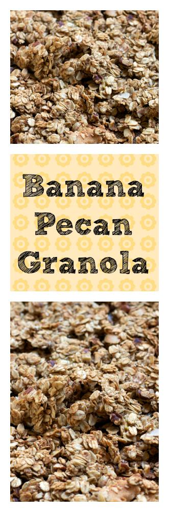Banana Pecan Granola || A Less Processed Life