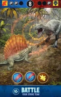 لعبة عالم الجوراسي والديناصورات Jurassic World Alive النسخة المهكرة للاجهزة الاندرويد