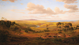 Geelong in 1856 painting by Eugene von Guerard