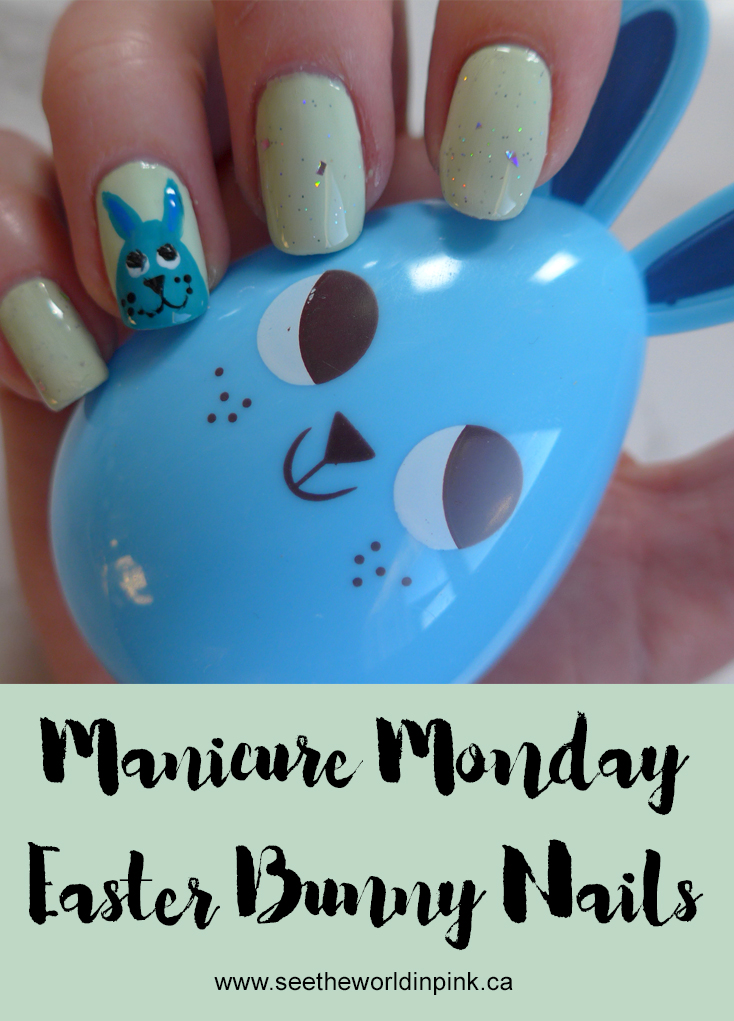 Manicure Monday - Easter Bunny Nails