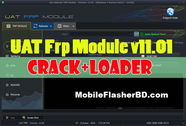 Download Uni Android Tool (UAT) Frp Module v11.01 Crack Setup +Loader Free For All by Jonaki telecoM