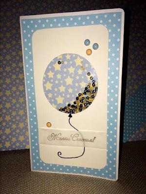 открытка, ручная работа, шейкер, воздушный шарик, день рождения