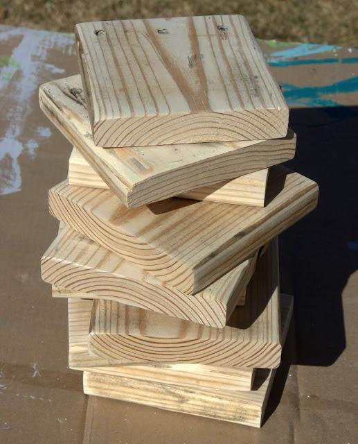 pallet wood squares