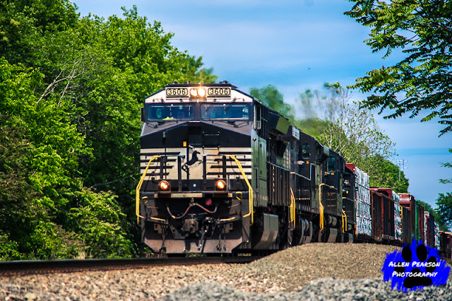 Railroad Photography! Norfolk Southern Locomotive 3606 Leads a Freight through Nokesville, VA (C) 2020, Allen Pearson Photography