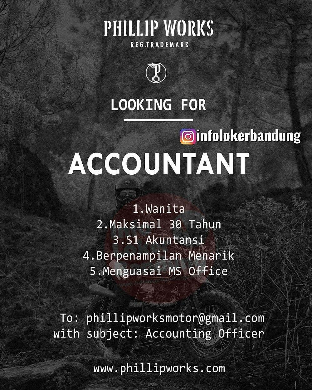 Lowongan Kerja Phillip Works Bandung Januari 2020