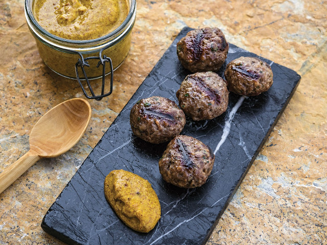 Beef and Lamb Koftas with Mustard