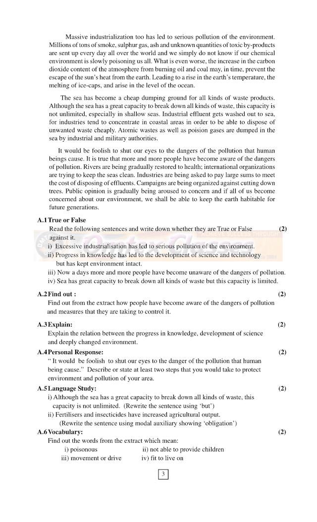 Preliminary Exam. (2021-2022) XII Arts/Commerce/Science ACTIVITY SHEET Subject : English