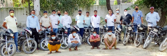 Inter-district gang of bike thieves busted in Haryana, five held