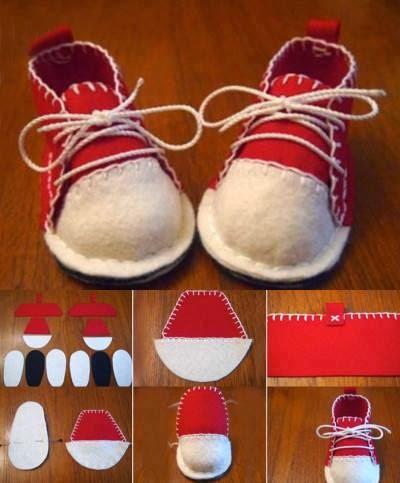 passo a passo sapatinhos de feltro