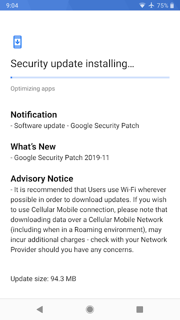 Nokia 8 Sirocco receiving November 2019 Android Security update