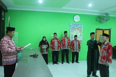 Kakan. Kemenag Tanjungbalai Lantik Pengawas Tk. SD