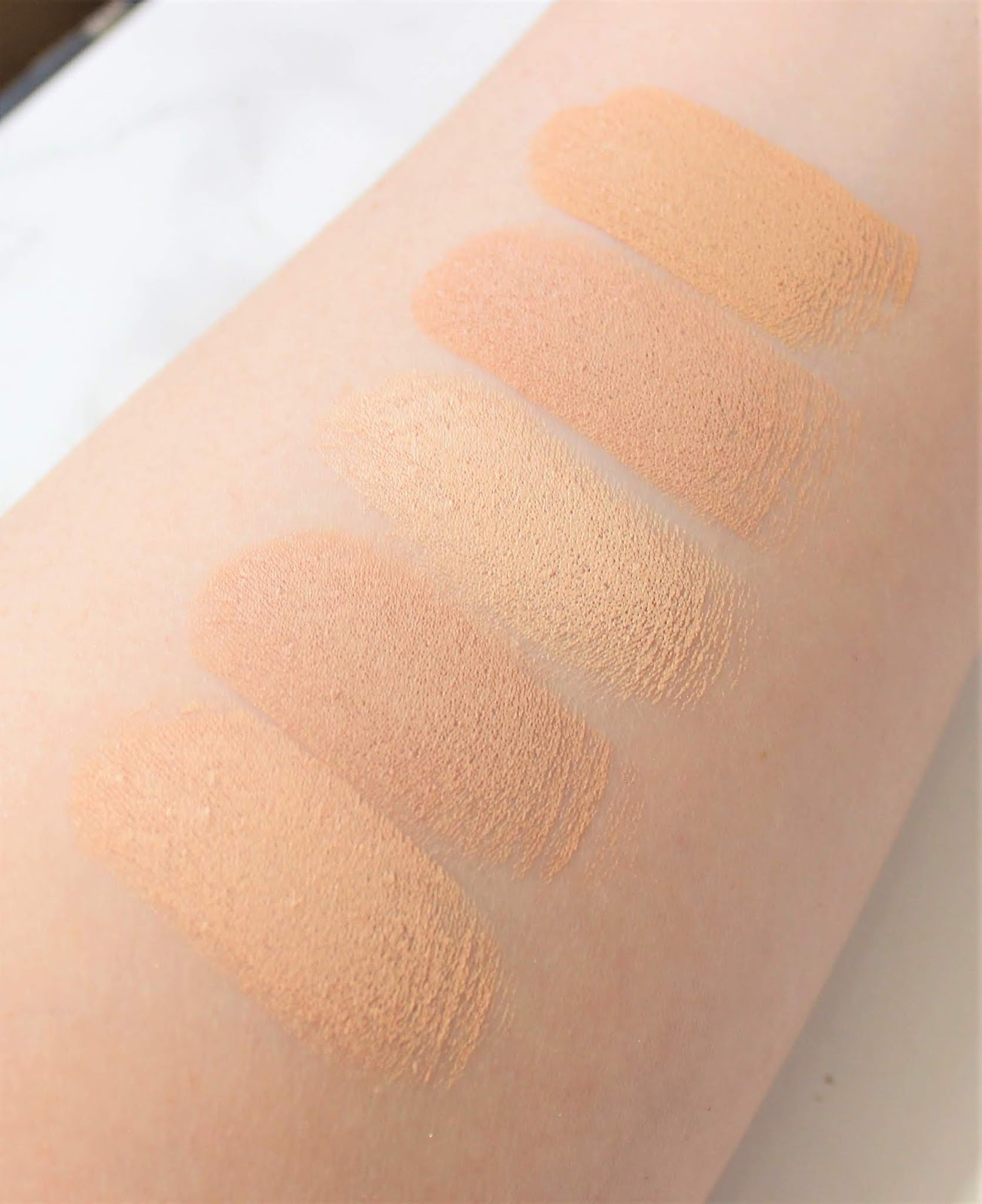 Pur Cosmetics 4 in 1 Foundation Stick Swatches
