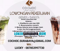 Lowongan Pekerjaan di Cochoc Surabaya Terbaru Nopember 2019