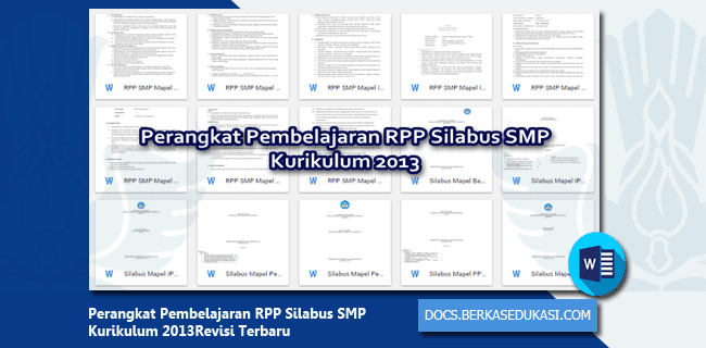 Perangkat Pembelajaran RPP Silabus SMP Kurikulum 2013 Revisi Terbaru