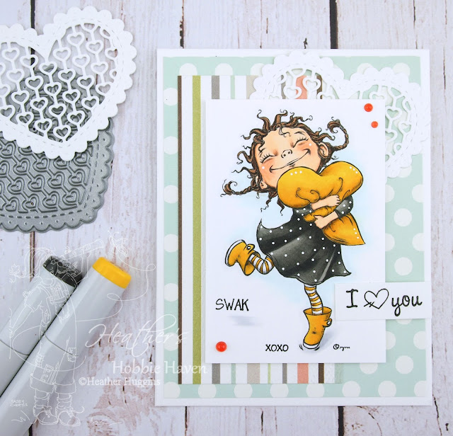 Heather's Hobbie Haven - Just for Fun Saturday - Love You to Bits Card