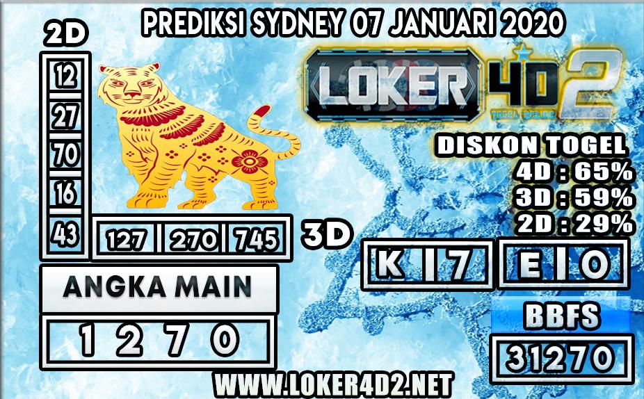 PREDIKSI TOGEL SYDNEY LOKER4D2 07 JANUARI 2020