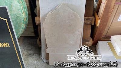 Harga Batu Nisan Granit dan Marmer, Harga Nisan Kuburan Islam, Nisan Marmer Putih