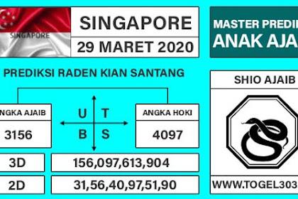 Angka Main Jitu Togel SGP Sabtu 28 Maret 2020