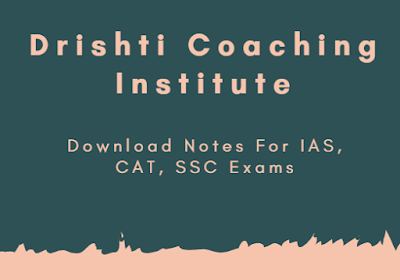 Drishti The Vision Printed Notes In Hindi for IAS, CAT, SSC and Other Competetive Exams