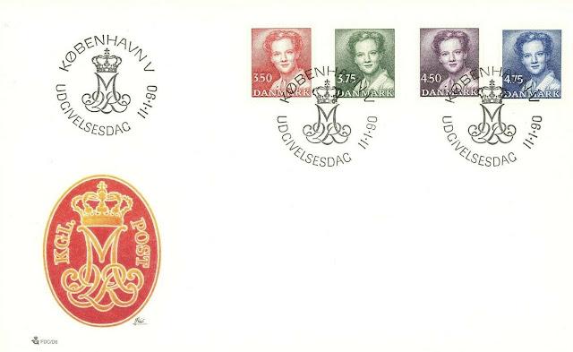Denmark FDC Queen Margrethe II 1990 Copenhagen