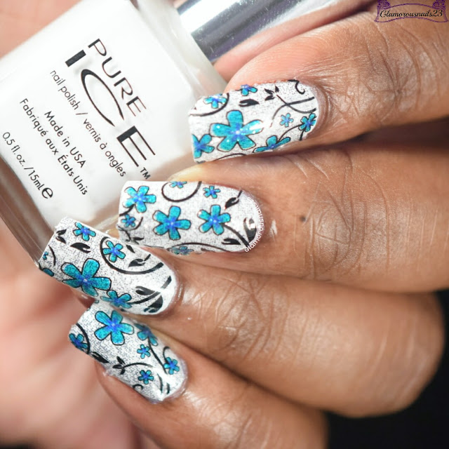Born Pretty Store Flower Nail Wraps