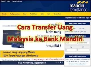 Transfer Uang dari Malaysia ke Bank Mandiri
