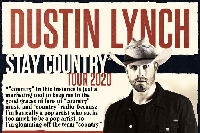 dustin lynch tour 2020